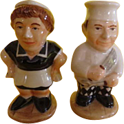 Cook and Maid Salt and Pepper Shakers - b220