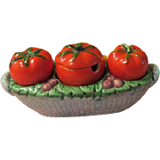 Hot Tomato Salt and Pepper Condiment set - b209