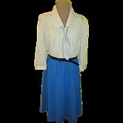 Polka Dot Tie Leslie Fay Shirtwaist dress