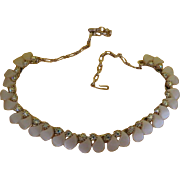 Bright White and Aurora Borealis Necklace - Free shipping
