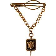 Eagle on Shield on Chair Tie Bar - Free shipping