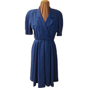 Royally Blue Wrap Top Dress