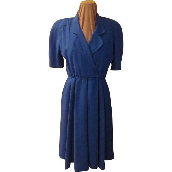 Royally Blue Wrap Top Dress