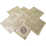 Warranted Damask Pale Yellow Napkins - B215