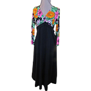 Wild about Flowers Black Skirt Maxi-dress