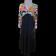 Wild about Flowers Black Skirt Maxi-dress
