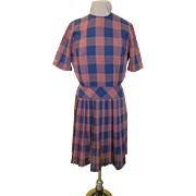 Perky Plaid Knife Pleat Dress