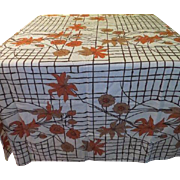 Flowers on Wire Trellis Tablecloth - b215