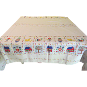Hospitality Pineapple Tablecloth - b220