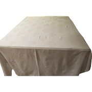 White Roses on White Tablecloth - B223