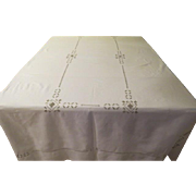 Cut and Embroidered Tablecloth - b223