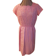 Pink Lace Bodice Dress