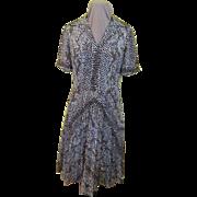 Exotic Python Print Shirtwaist Dress