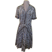 Exotic Python Print Shirtwaist Dress