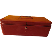 Red Metal Cash Box - b221