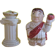 Caesar and His Salad Salt and Pepper Shakers - b220