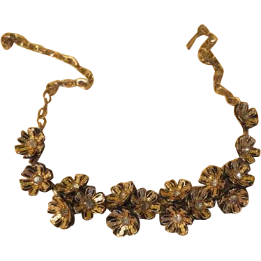 Clusters of Flowers Necklace - free shipping