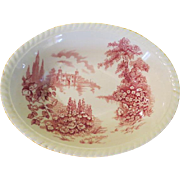Johnson Bros. Castle on the Lake Oval Vegetable Bowl - b214