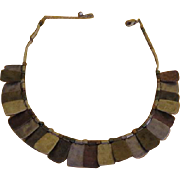 Tri-color Slab Necklace - Free shipping