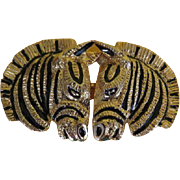 Nuzzle to Nuzzle Zebra Belt Buckle - Free shipping