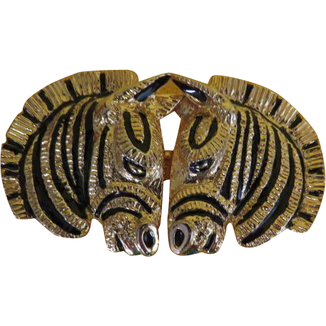 Nuzzle to Nuzzle Zebra Belt Buckle - Free shipping