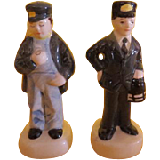 Conductor and Engineer Salt and Pepper Shakers - b220