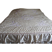 Quilted and Tufted King Size Bedcover and Pillow Shams - L11