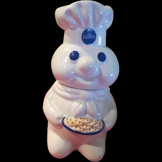 Pillsbury Doughboy with Cookies Cookie Jar - g
