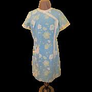 Blue Hawaiian Shift Dress