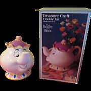 Treasure Craft Mrs Potts Disney Beauty and the Beast Cookie Jar