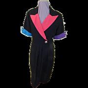 Pops of Color Wrap Look Dress
