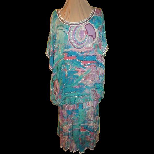 Sequins on Swirls Dress