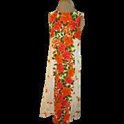 Bordering on the Unusual Hawaiian Print Dress