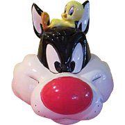 Applause Sylvester and Tweety Bird Cookie Jar