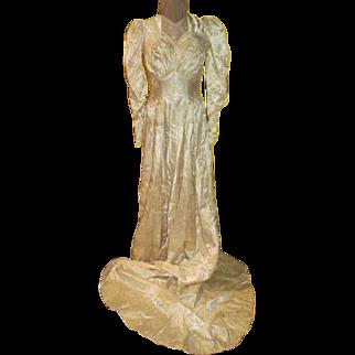 Prim and Proper Wedding Gown/dress