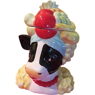 Vandor Cowman Moo-randa Cookie Jar