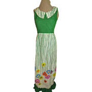 Flower Garden Green Bodice Dress