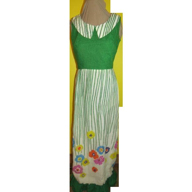 Flower Garden Green Bodice Dress