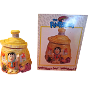 Fred Flintstone at Home Hanna Babbera Cookie Jar in Box
