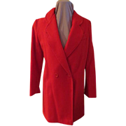 Buttoned Up red Coat