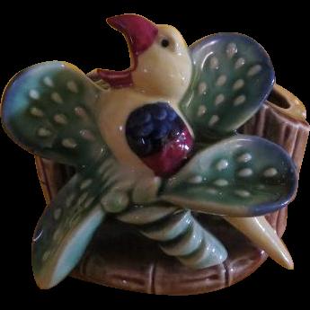 Bird on Cactus Shafford Planter - b220