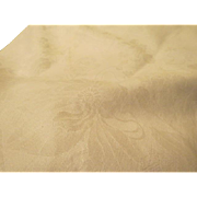 Flower White on White Tablecloth