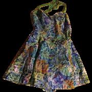 Watercolor Print Playsuit/swimsuit/romper