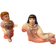 World's Greatest lovers Anthony and Cleopatra Salt and Pepper Shakers - JSP
