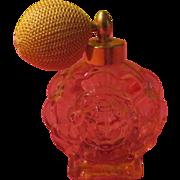 Pink Round Glass Perfume Atomizer - b222