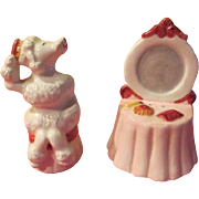 Vain poodle and Vanity Clay Art Salt and Pepper Shakers - JSP