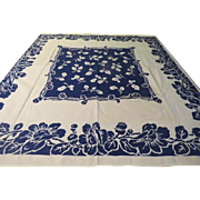 Bountiful Blue Flower Tablecloth - b224/225