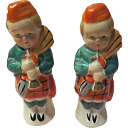 Scottish Bagpipes Salt and Pepper Shakers - b226