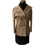Butte Knit Pinstripe Jacket with Skirt and Shell