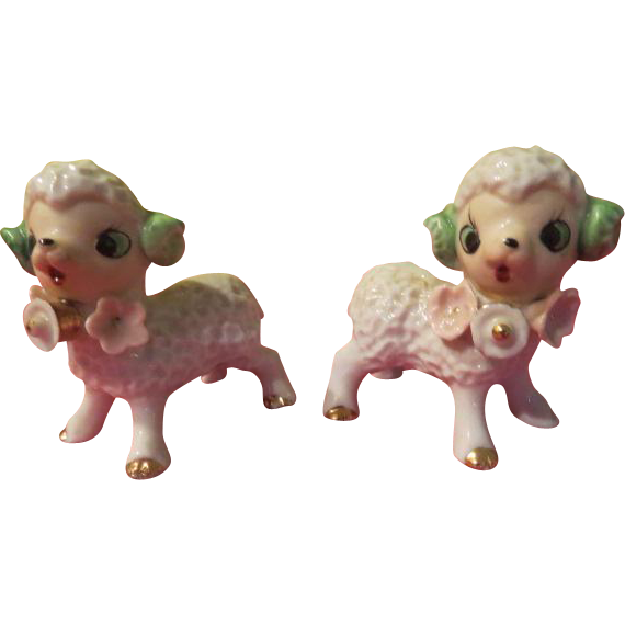 Little Lamb Salt and Pepper Shakers - b229